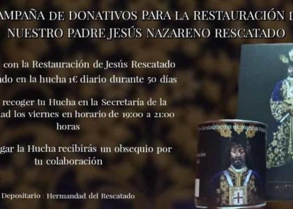 Campaña de donativos para restauración